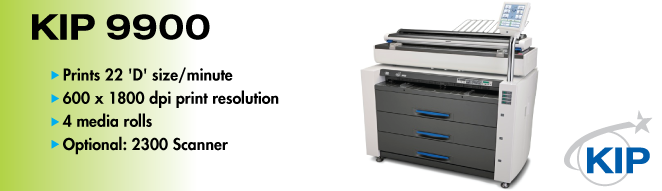 KIP 9900 Printer and 2300 Scanner
